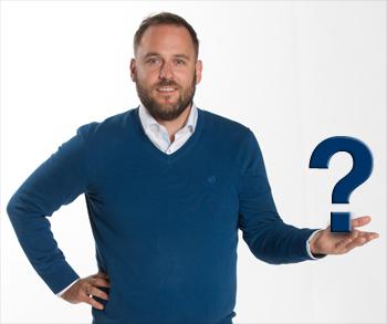 Sebastian Kresse mit Fragezeichen