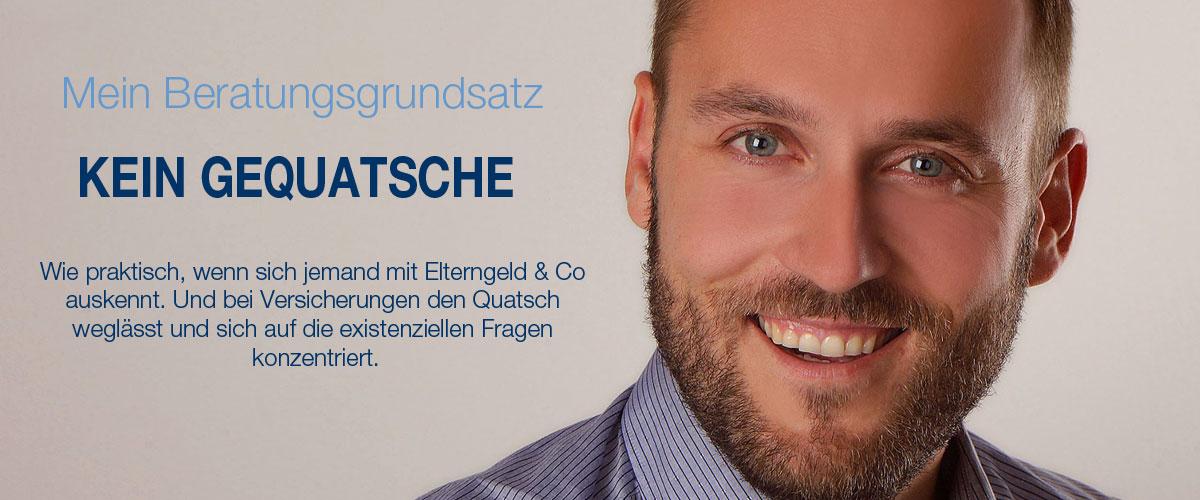 Titelbild - Sebastian Kresse Versicherungsmakler in Deggendorf - Beratungsgrundsatz: kein Gequatsche