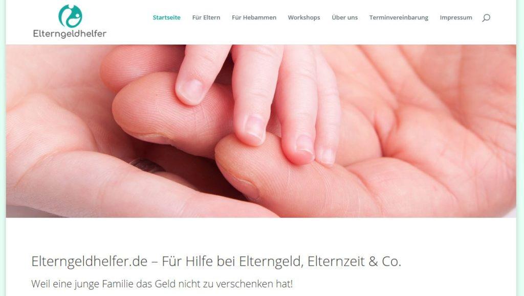 Vorschau www.elterngeldhelfer.de
